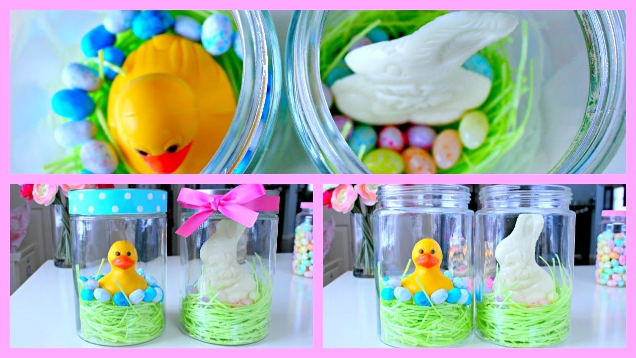 Diy easter gift ideas easter jars youtube negle Choice Image