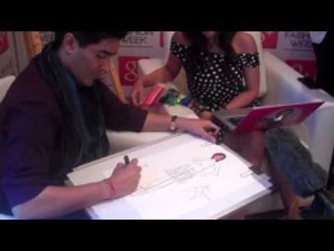 Manish Malhotra Sketch for MissMalini at Lakmé Fashion Week Summer Resort 2014