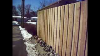Cedar Batten Board Privacy Fence Robbinsdale, Mn