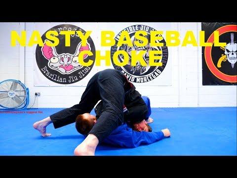 The Pop Up Baseball Bat Choke from Side Control - Make a Pillar!