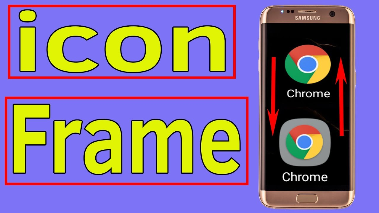 Frame icon : How To Change App icon Frame Border on Samsung Galaxy -  Helping Mind