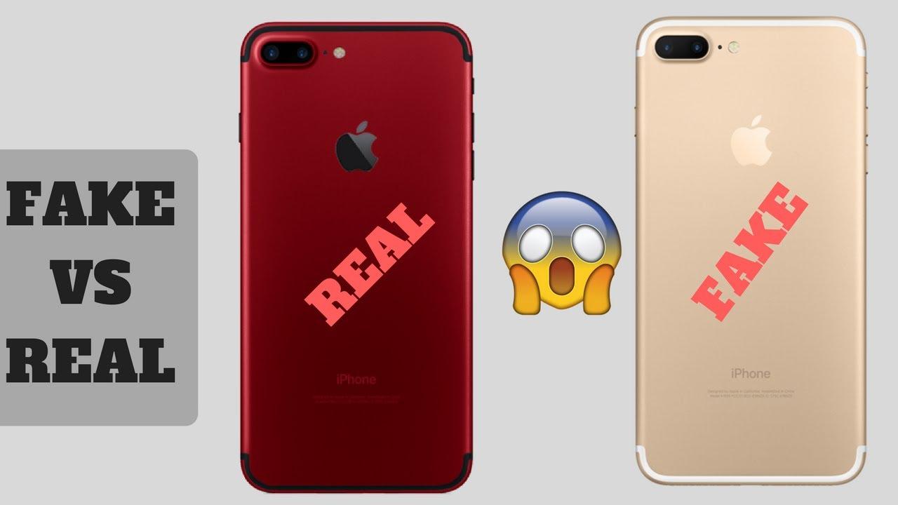 Comparison Real vs Fake iPhone 7 Plus | Market Insight