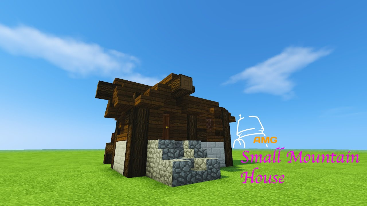 Minecraft 15 minute build small mountain house youtube for How to build a house in a mountain
