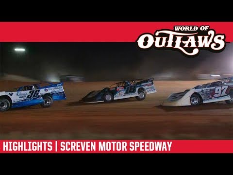 World of Outlaws Morton Buildings Late Models Screven Motor Speedway February 9, 2019   HIGHLIGHTS