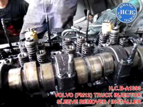 12 Valve Cummins Fuel System Diagram Honda Xrm Rs 125 Electrical Wiring H.c.b-a1393 Volvo (fm12) Truck Injector Sleeve Remover / Installer - Youtube