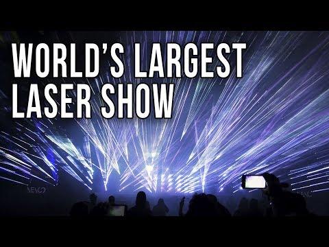 World's Largest Laser Show by ER Lighting at LDI 2017 (4k)