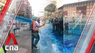 Hong Kong protests: Kowloon Mosque gets sprayed blue by police water cannon