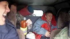 Russian party in the car