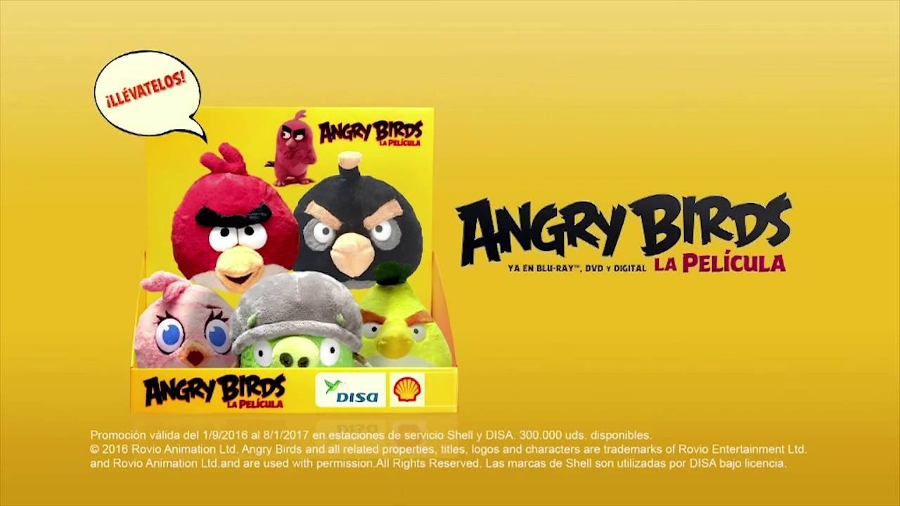 Los peluches de angry birds llegan a disa y shell youtube - Jeu info angry birds ...