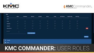 KMC Commander: User Roles