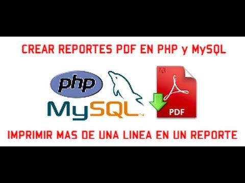 CREAR REPORTES PDF EN PHP & MYSQL - VIDEO 04