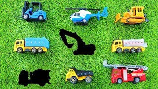 Toys Vehicle Puzzle for Kids - Toys Review Learning ,Bulldozer ,Helicopter, Excavator,Fire Engine ,D