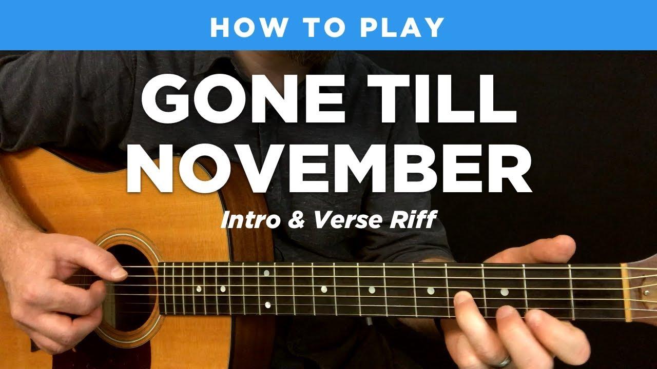 Gone Till November Intro Verse Fingerpicking Riff Wyclef