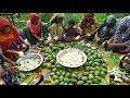 70 KG Green Mango Spice Juice Cooking - Sweet Mango Chutney Prepared For Village Kids & Villagers