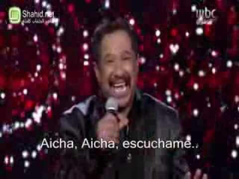 Cheb Khaled - Aicha - Subtitulada al español - Spanish Musica arabe - Directo, Live Arab Idol