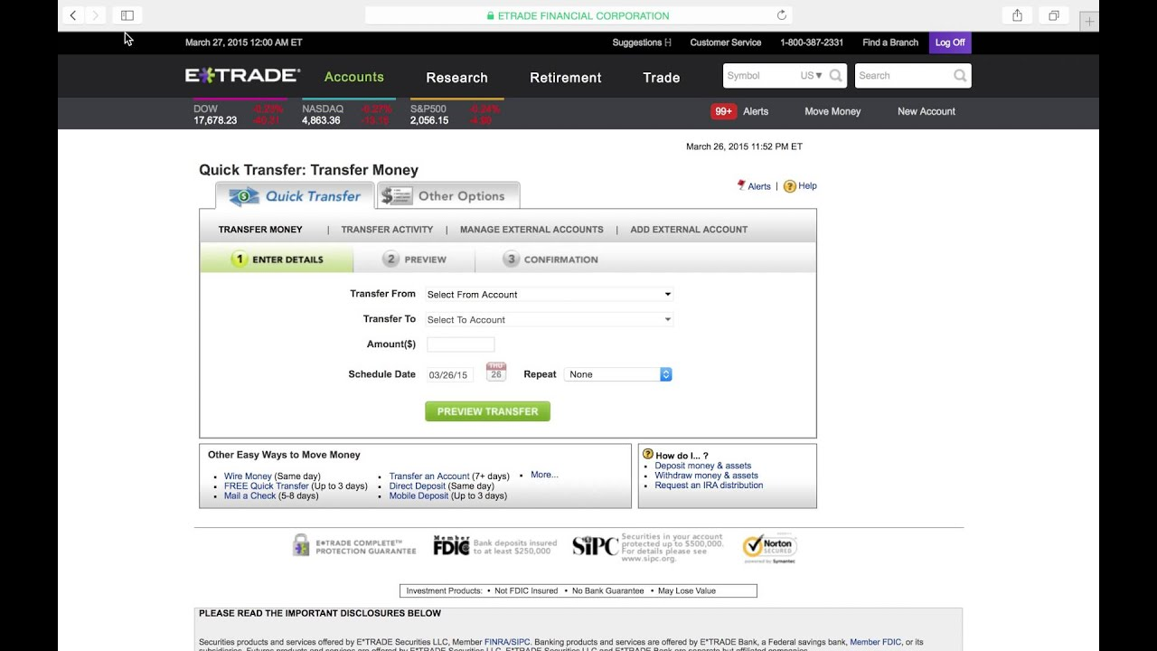 How to transfer money from your etrade account to your checking ...