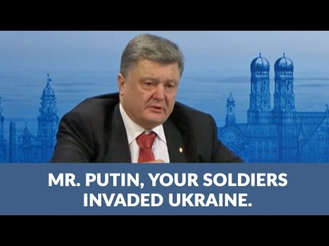 Passionate words by President of Ukraine Petro Poroshenko to Putin