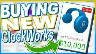BUYING BLUE CLOCKWORK HEADPHONES! 10,000R$ | ROBLOX