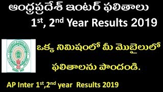 Andhra Pradesh Intermediate 1st And 2nd Year Results 2019 I How To Check AP INTER Results 2019