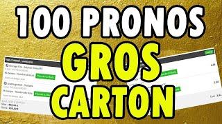 100 PRONOSTICS GRATUITS ON CARTONNE TOUT (Paris Sportifs)