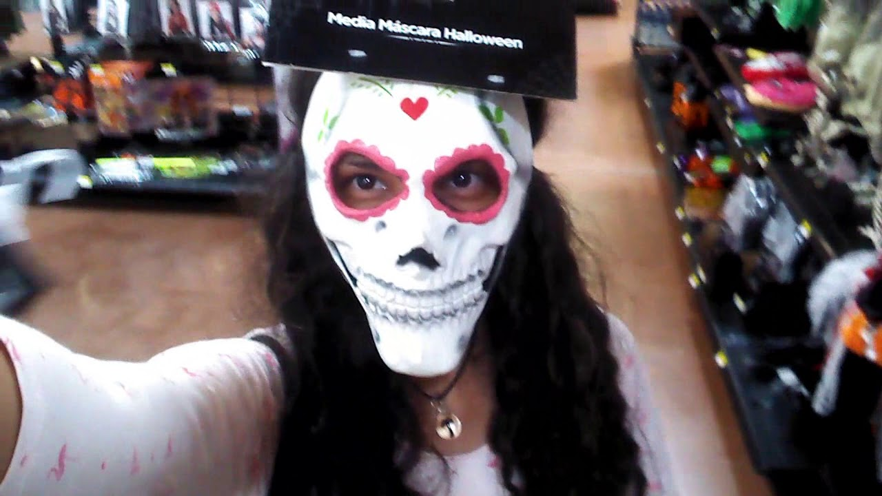 Trying On Masks For Halloween Probando Mascaras Para Halloween