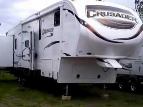 2013 Crusader 355BHQ fifth wheel, four slide, bunk house at Bullyan RV in Duluth, MN