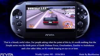 PS Vita Weekly Update #93 - 19/04/2014