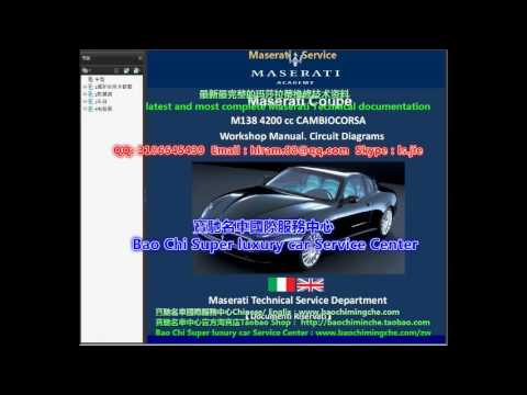 2017 2002 full set maserati workshop manual wiring diagram youtube rh youtube com 2002 maserati spyder wiring diagram Maserati GranTurismo