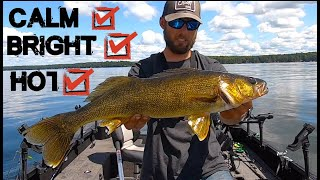 How To Catch Summer Walleyes In Tough Conditions