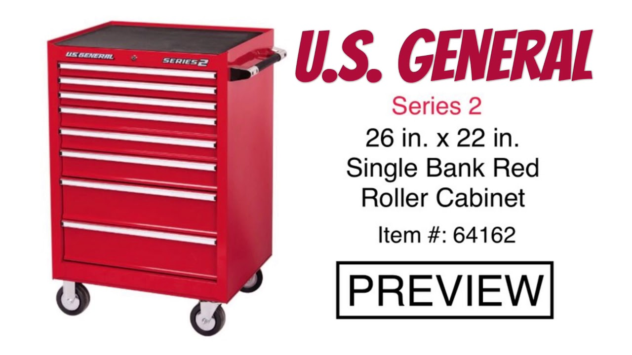 Harbor Freight U.S. General Series 2 Single Bank Roller Cabinet #64162 /  Top Chest #64160