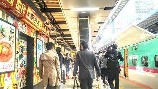 《乗り換え》東京駅、東北新幹線からJR山手線(内回り)へ(南のりかえ口経由)。 Tokyo