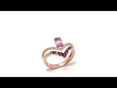 Atelier by Jean Dousset 14K 1.07ctw Pink Sapphire Ring. http://bit.ly/2x5bwRx