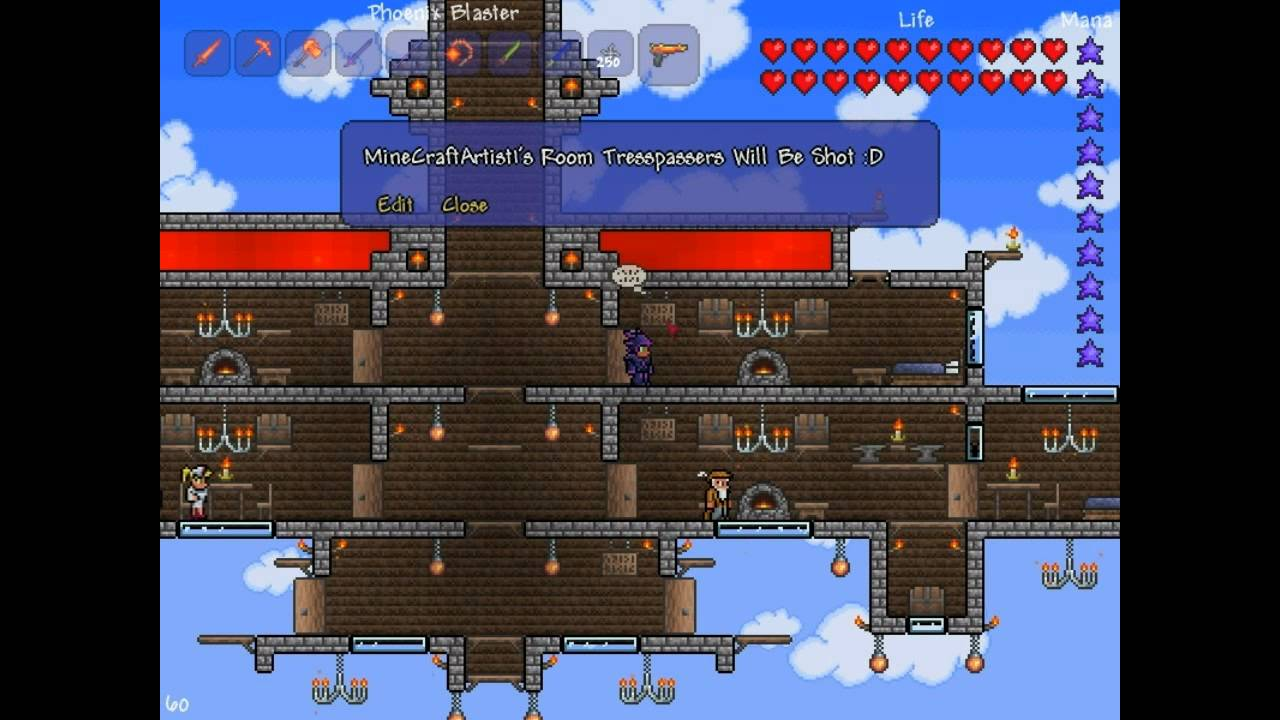 Terraria Floating House YouTube