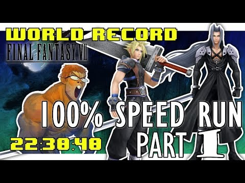 Final Fantasy VII PSX 100% in 22:30:40 - NEW WORLD RECORD (Part 1 of 2)