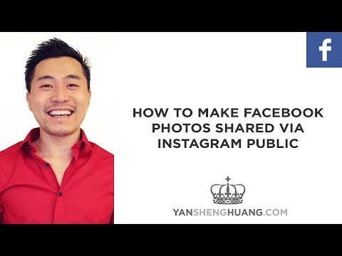 How to show my instagram pictures on facebook