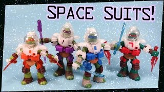 Teenage Mutant Ninja Turtles Dimension X Space Suits Action Figures Toys