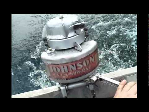 1940 Johnson At 10 5hp Antique Outboard Boat Motor Youtube