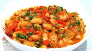 #ФАСОЛЬ с Мясом и Овощами в горшочках Очень Вкусно #Рецепт