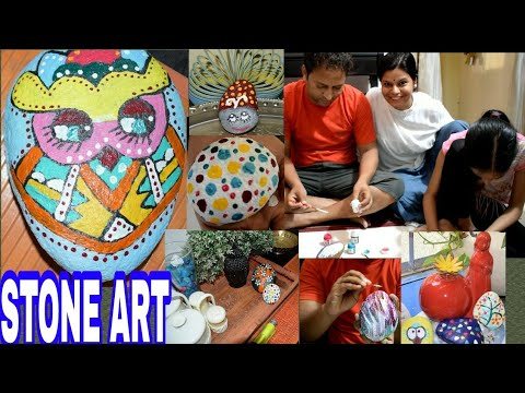 #STONEART/PAINTING ! DIY STONE ART! FUN WITH FAMILY ! Painting stones!