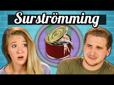 TEENS EAT SURSTRÖMMING! (Super Smelly Fish) | Teens Vs. Food