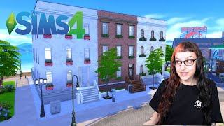 The Sims 4: New York City TOWNHOUSE Build! Speed-build 🏢🌇