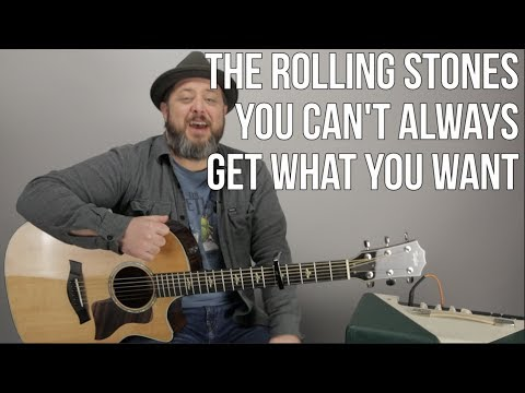 """The Rolling Stones """"You Can't Always Get What You want"""" Guitar Lesson (EASY) w Capo"""