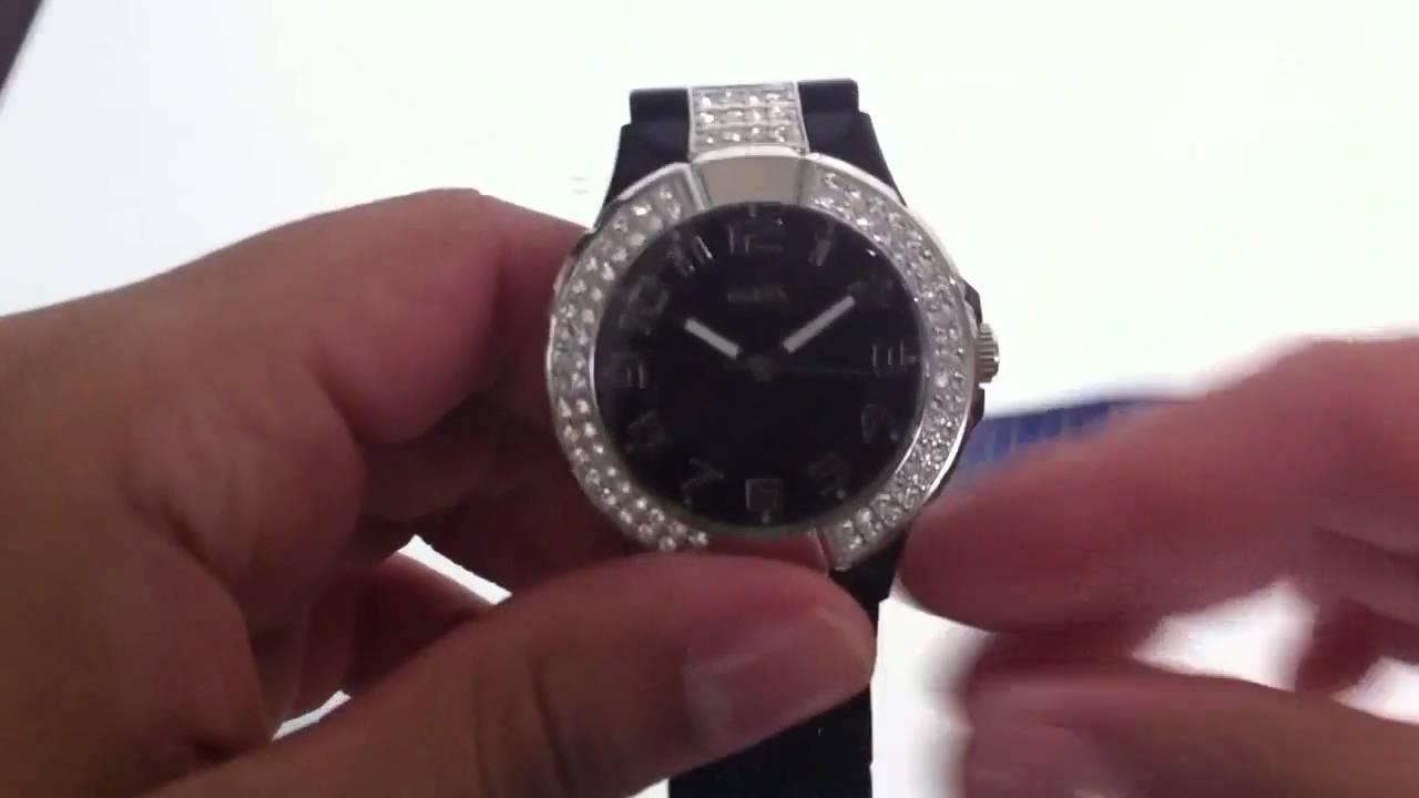 Women s Black Guess Sport Crystal Glitz Watch U95198L2 - YouTube 750ed3b2f85