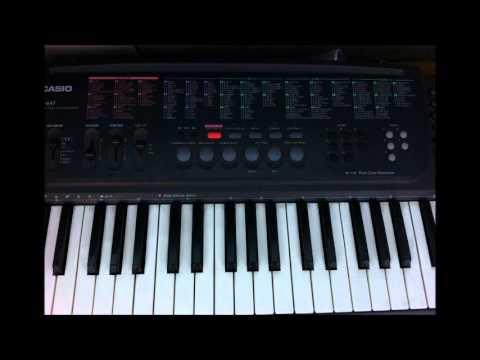 CASIOキーボードCT-647のジュークボックスC4「ヘヴィメタルアドリブ」 - YouTube