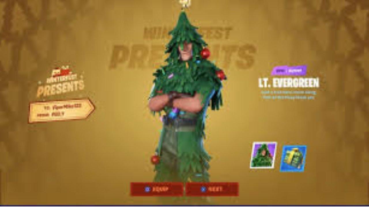 Fortnite Free Christmas Tree Skin - YouTube