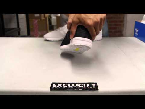 Adidas ZX Flux Black/White Unboxing Video at Exclucity