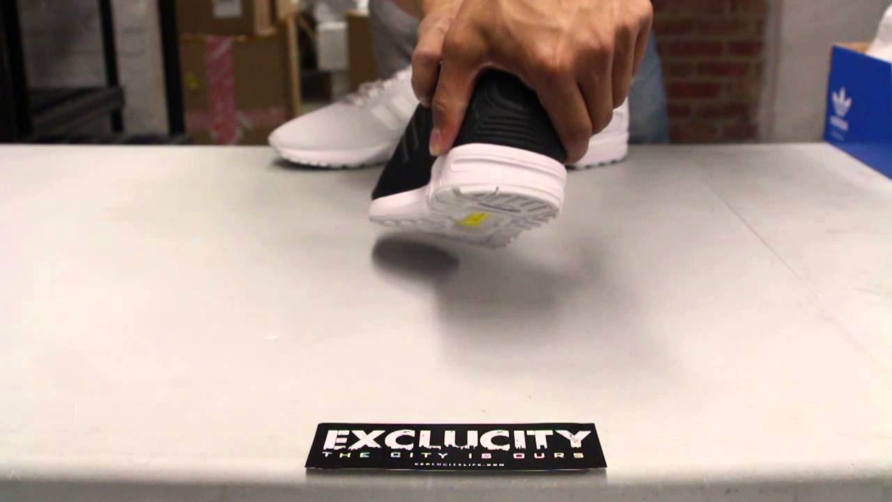 3a437d98133ce Adidas ZX Flux Black White Unboxing Video at Exclucity - YouTube