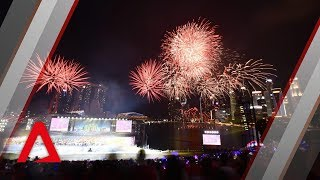 NDP 2018: Fireworks display over Marina Bay