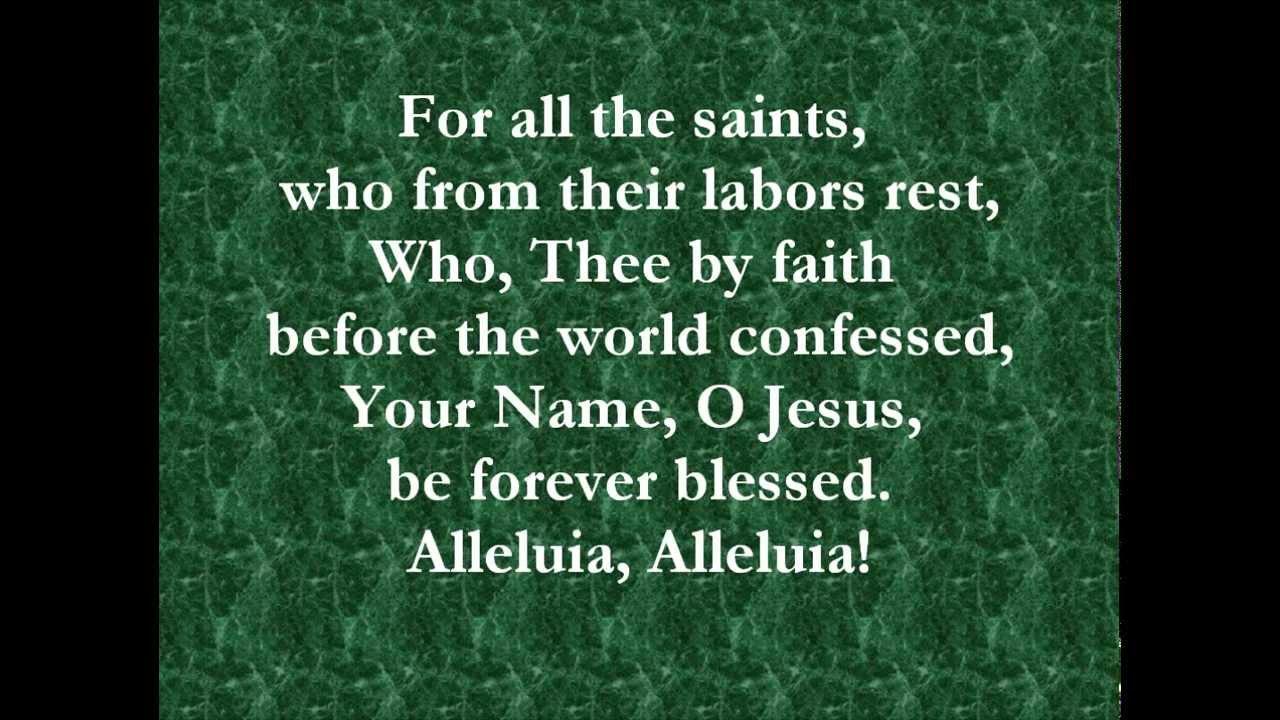 All Saints Song Lyrics | MetroLyrics