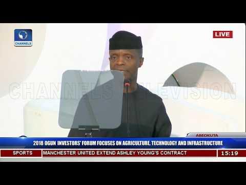 We Have Reversed Grand Corruption In Public Finance - VP Osinabjo Pt.2 |Ogun Investors' Forum|